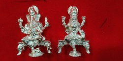 Silver Laxmi Ganesh Murti