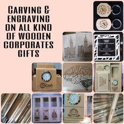 Carving & Engraving On All Wooden Corporate Gifts