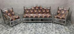 Stainless Steel Brown Sofa Set