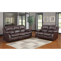 5 Seater Leather And Stainless Steel Sofa Set
