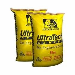 PPC (Pozzolana Portland Cement) Ultratech Cement, Packaging Type: PP Sack Bag, Cement Grade: Grade 43