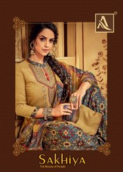 Alok Present Sakhiya Pure Viscose Reyon Summer Wear Patiyala Dress Materials