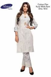 Vitrag Cotton Flex Printed Kurti With Pant
