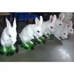 Standing Rabbit FRP Statue