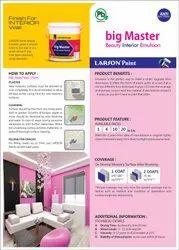 Larson Paint White Interior Emulsion Paints, Packaging Type: Bucket