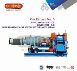Jumbo Heavy Sugar Cane Crusher With Double Mill Planetary Gear Box & Spring Om Kailash