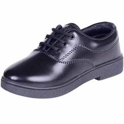 Boys Black School Shoes, Size: 1-10, Rs