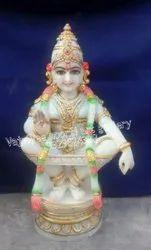 White Marble Ayyappa Statue