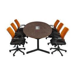 Oval Meeting Table with POP UP Box
