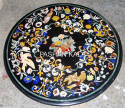 Round Stone Inlay Table Tops