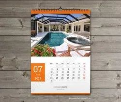 New Year English Wall Calendar, For Office