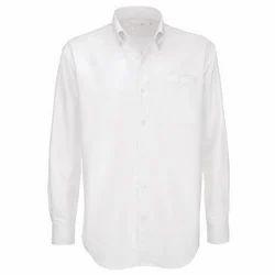 Cotton White Mens Formal Shirt