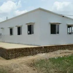 Prefab Shelters With PUF Panel of Size : 7.620 M X 18.491 M