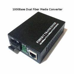 1000Base Dual Fiber Media Converter