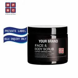OEM Or Private Label Face & Body Scrub with Coffee and Orange Peel