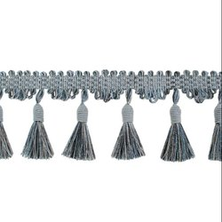 24 Grey and Blue Mix Swirl Cascade Tassels Fringe