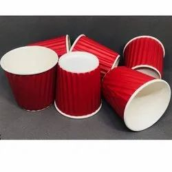 Red Paper Coffee Cup, Capacity: 150 - 250 Ml, Features: Eco Friendly, Lightweight