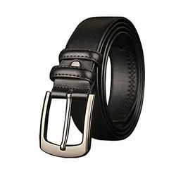 Casual Wear Alloy Mens Formal Black Leather Belt