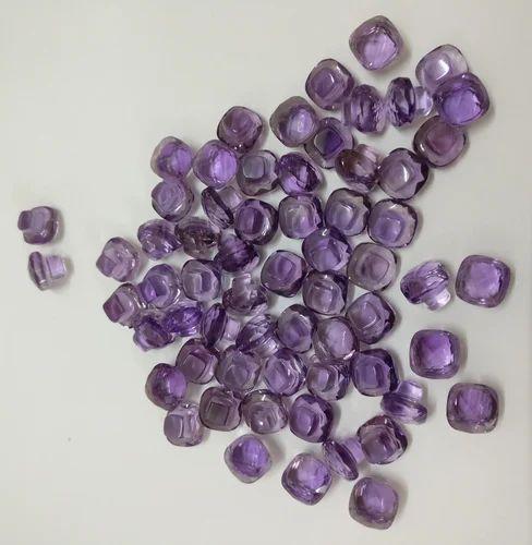 Natural Amethyst Gemstone Mashroom Shape Briollet Cut Stones