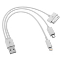 Yellow 3 In 1 Usb Data Sync Charger Cable, Number Of Pins: 8 & 30, Length: 20 Cm
