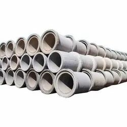 18 Inch Round Grey Cement Pipes, Thickness: 40 Mm