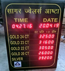 Jewellery Rates Display Board