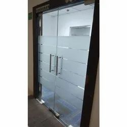 Hinged Plain Toughened Glass Door, For Office, Thickness: 8 - 12 Mm