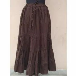 Ladies Cotton Plain Skirt