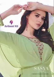 Sasya Vol 16 Georgette Embroidery Long Kurti