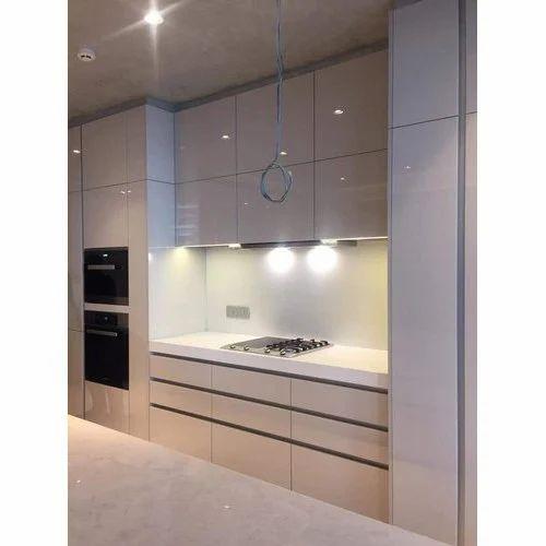 Wooden Ivory Modular Kitchen Cabinet, Ivory Kitchen Cabinets