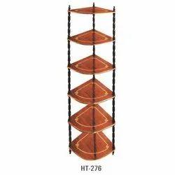 Six Shelves Wooden Corners
