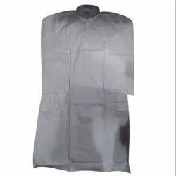 White Plain Mens Cotton Kurta, Packaging Type: Packet, Plastic Bag