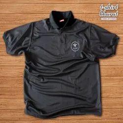 Black Men Dryfit Sports T-Shirt