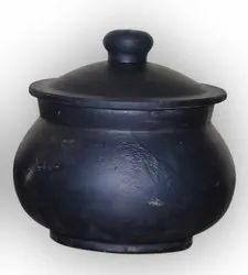 Earthen Black Curd Pot ( 1 liter)