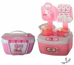 Kitchen Set For Kids Girls 18 Piece Portable Carry Along Kitchen