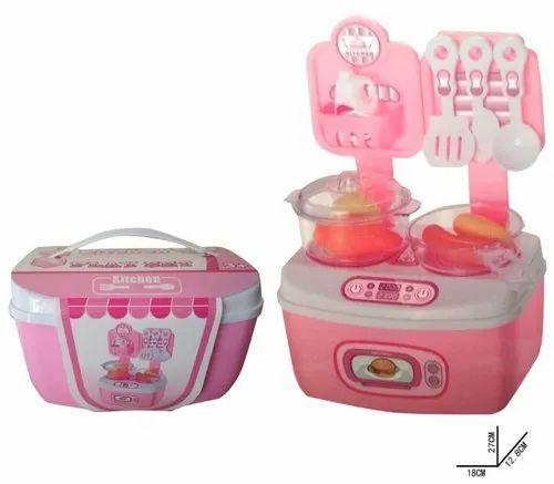 Kitchen Set For Kids Girls 18 Piece Portable Carry Along Kitchen