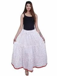 Indian Women''S Printed Skirt