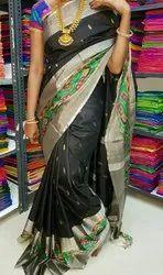 Festive Wear Uppada Pattu Laksha Buta With PP Border Saree