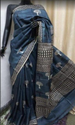 Block Printed Bishnupur Silk Saree