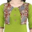 Yash Gallery Womens Cotton Jacket Style A-Line Kurta