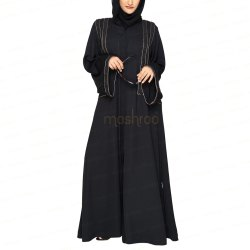 Royal Laced Black Abaya