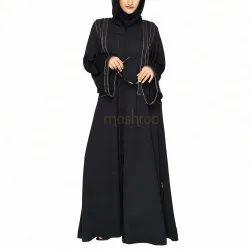 Royal Laced Black Abaya