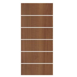 Metal Line Wooden Interior Door