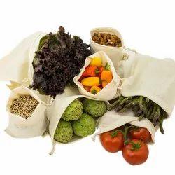 Organic Cotton Muslin Produce 100% GOTS Certified Muslin Fabric Bag