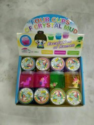 5 color Slime Clay Crystal Clay, Packaging Type: Bottle, Packaging Size: Box Contain 12 Pc