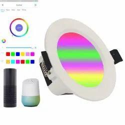 Housys Round RGB Downlight, IP33, 7 W