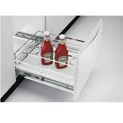 Stainless Steel Bottle Pull Out Basket