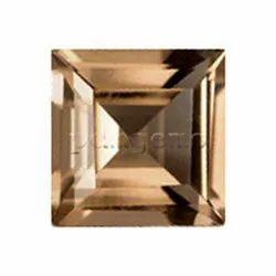 Smoky Quartz Faceted Square Gemstone