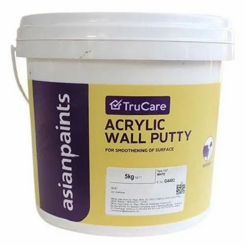 Asian Paints Trucare Acrylic Wall Putty For Exterior Packaging Size 5 Kg Rs 40 Kg Id 21719365155