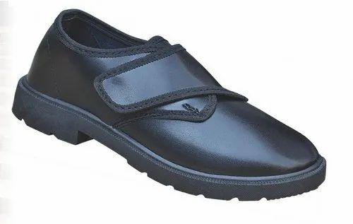 Garg Footwear Black Velcro Tennis Shoes